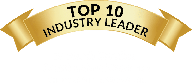 Top 10 Industry Leader, by North Carolina Construction News for Shower and Mirror Work